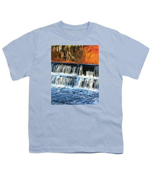 Waterfall In Downtown Waukesha Youth T-Shirt
