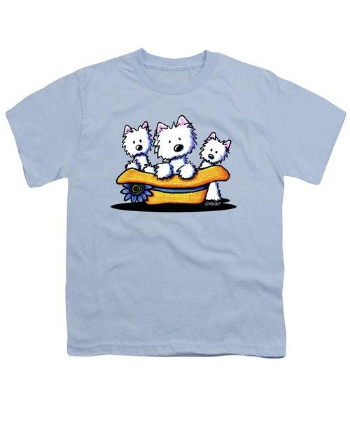 Westie Hat Trio Youth T-Shirt