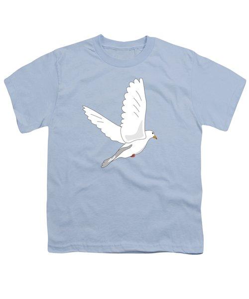 White Dove Youth T-Shirt by Miroslav Nemecek