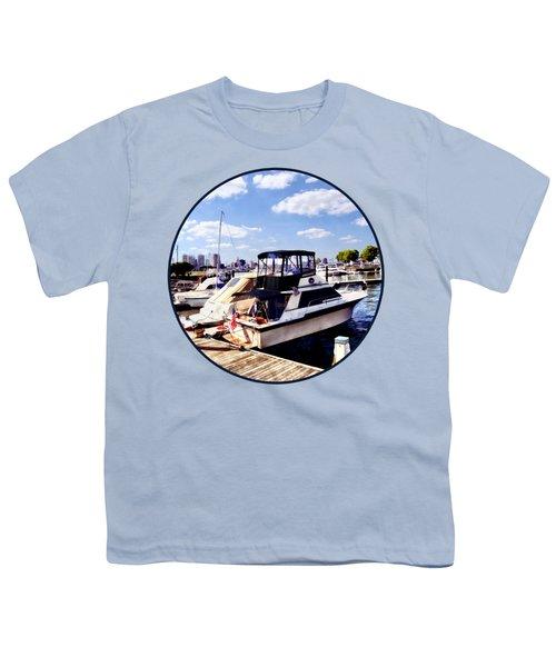 Wiggins Park Marina Youth T-Shirt by Susan Savad