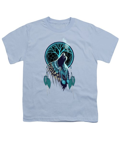 Wolf Indian Shaman Youth T-Shirt