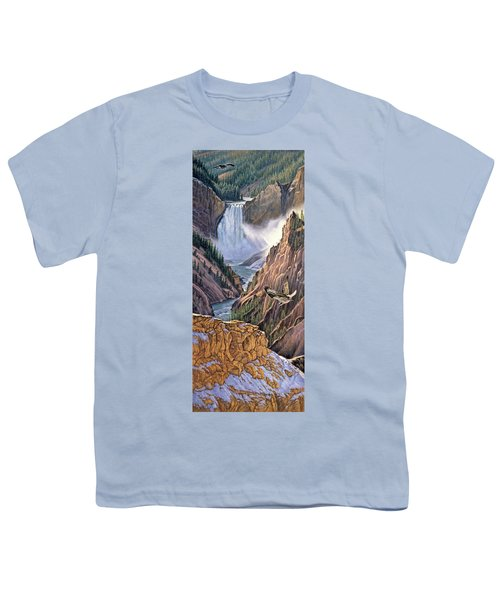 Yellowstone Canyon-osprey Youth T-Shirt by Paul Krapf