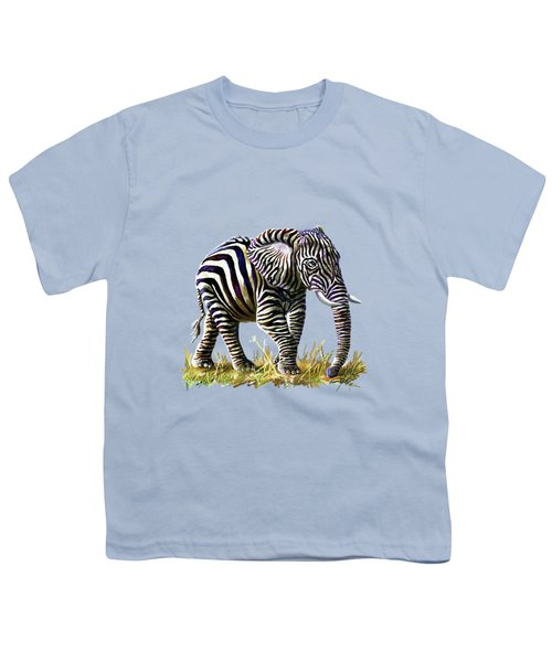 Zebraphant Youth T-Shirt by Anthony Mwangi