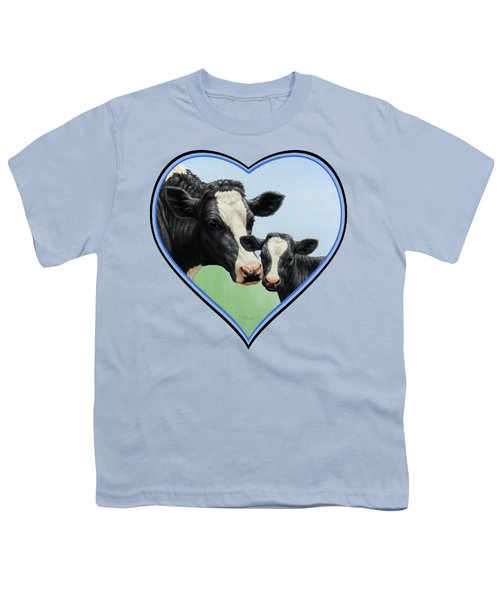 Holstein Cow And Calf Youth T-Shirt