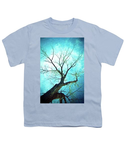 Youth T-Shirt featuring the photograph Winter Tree Blue  by James BO Insogna