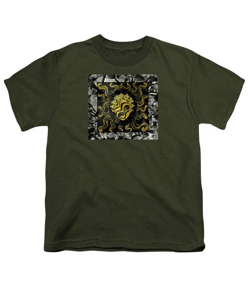 Youth T-Shirt featuring the photograph Golden God by Nareeta Martin