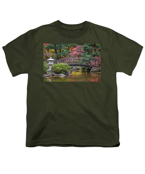 Youth T-Shirt featuring the photograph Japanese Bridge by Sebastian Musial
