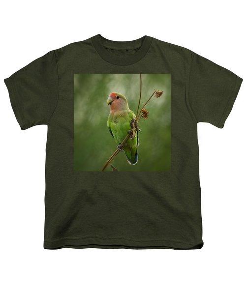 Lovely Little Lovebird  Youth T-Shirt by Saija  Lehtonen