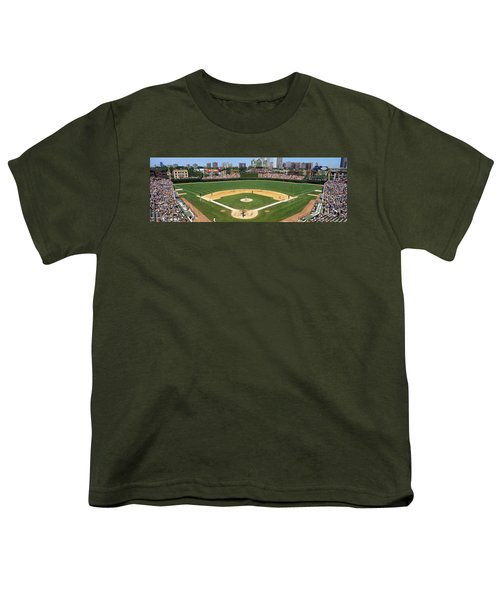 Usa, Illinois, Chicago, Cubs, Baseball Youth T-Shirt
