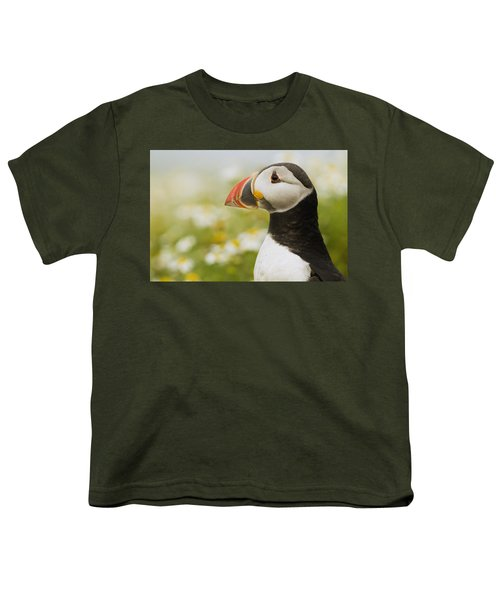 Atlantic Puffin In Breeding Plumage Youth T-Shirt by Sebastian Kennerknecht