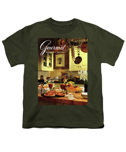 A Buffet Brunch Party Youth T-Shirt by Romulo Yanes