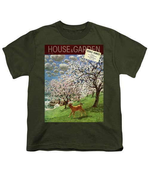 A House And Garden Cover Of A Calf Youth T-Shirt