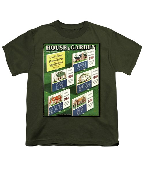 A House And Garden Cover Of Floorplans Youth T-Shirt