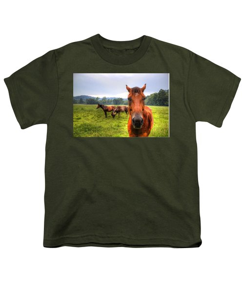 Youth T-Shirt featuring the photograph A Starring Horse 2 by Jonny D