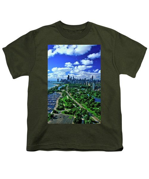 Aerial View Of Chicago, Illinois Youth T-Shirt
