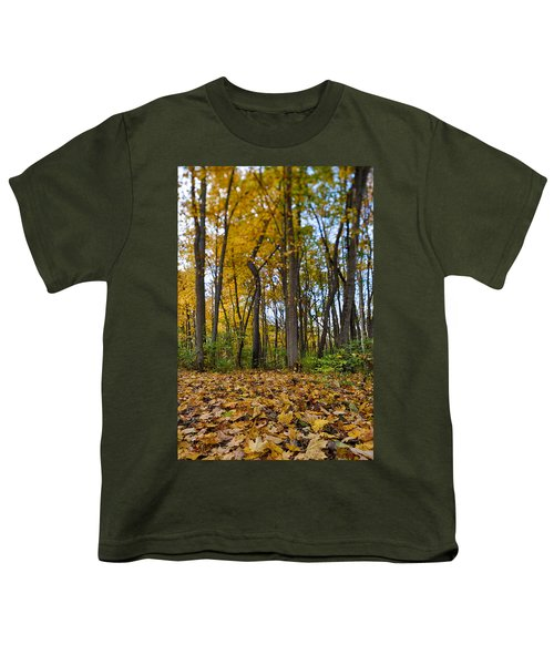 Youth T-Shirt featuring the photograph Autumn Is Here by Sebastian Musial