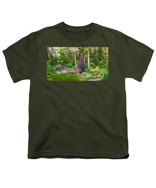 Backyard Garden In Loon Lake, Spokane Youth T-Shirt