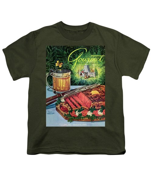 Barbeque Meat And A Mug Of Beer Youth T-Shirt
