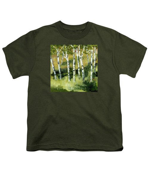 Birches On A Hill Youth T-Shirt