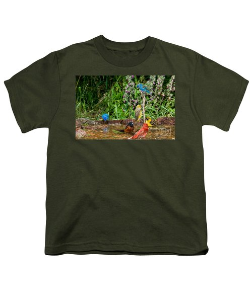 Birds Bathing Youth T-Shirt