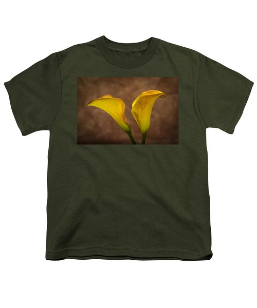 Youth T-Shirt featuring the photograph Calla Lilies by Sebastian Musial