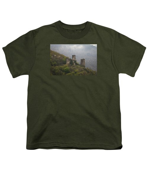 Castle In The Mountains. Youth T-Shirt