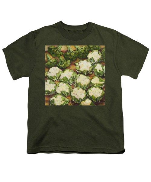 Cauliflower March Youth T-Shirt by Jen Norton