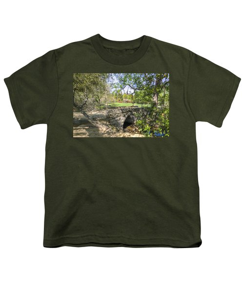 Youth T-Shirt featuring the photograph Clover Valley Park Bridge by Jim Thompson