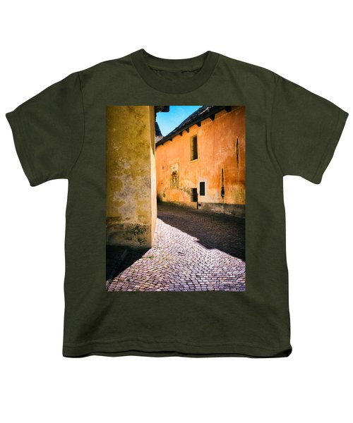 Youth T-Shirt featuring the photograph Cobbled Street by Silvia Ganora