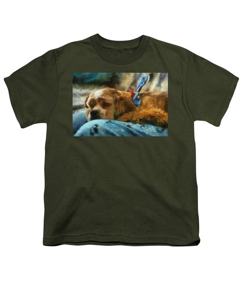 Cocker Spaniel Photo Art 07 Youth T-Shirt by Thomas Woolworth