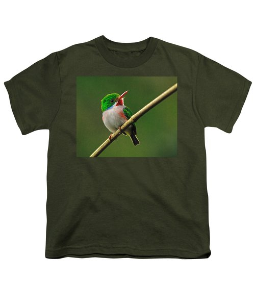 Cuban Tody Youth T-Shirt by Tony Beck