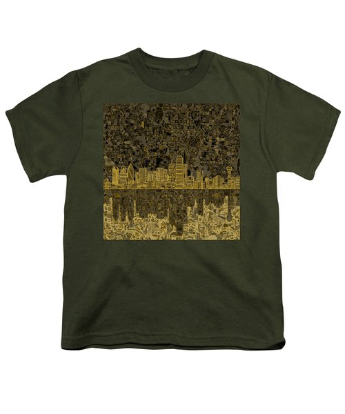Dallas Skyline Abstract 3 Youth T-Shirt