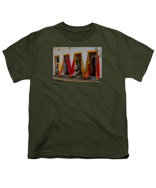 Youth T-Shirt featuring the photograph Decorated Doorways by Nareeta Martin