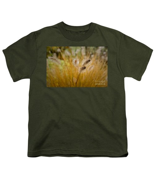 Dew On Ornamental Grass No. 4 Youth T-Shirt