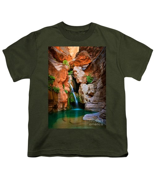 Elves Chasm Youth T-Shirt by Inge Johnsson