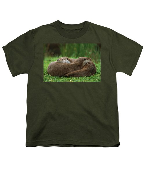 European River Otter Lutra Lutra Youth T-Shirt