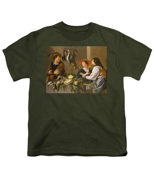 Game And Vegetable Sellers Oil On Canvas Youth T-Shirt
