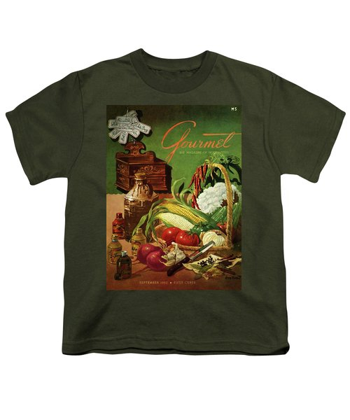 Gourmet Cover Featuring A Variety Of Vegetables Youth T-Shirt