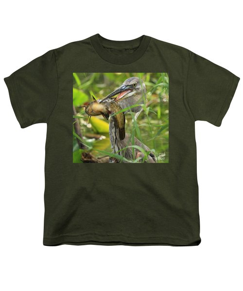 Great Blue Killer Youth T-Shirt by Adam Jewell