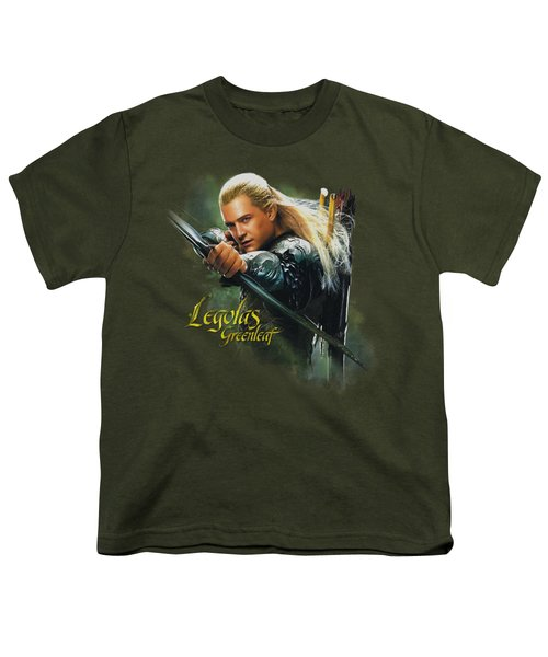 Hobbit - Legolas Greenleaf Youth T-Shirt by Brand A