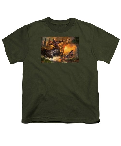 Hunt The Hunter Youth T-Shirt by Ryan Barger
