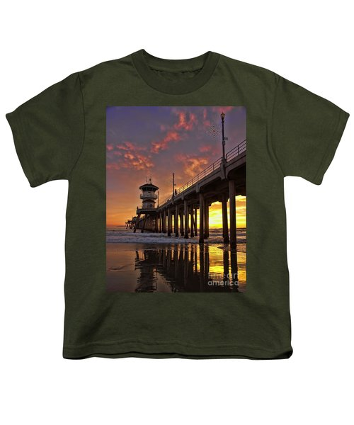 Huntington Beach Pier Youth T-Shirt