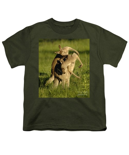 Kangaroos Taking A Bow Youth T-Shirt by Bob Christopher