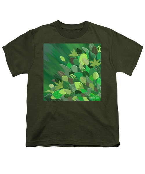 Leaves Are Awesome Youth T-Shirt by Linda Lees