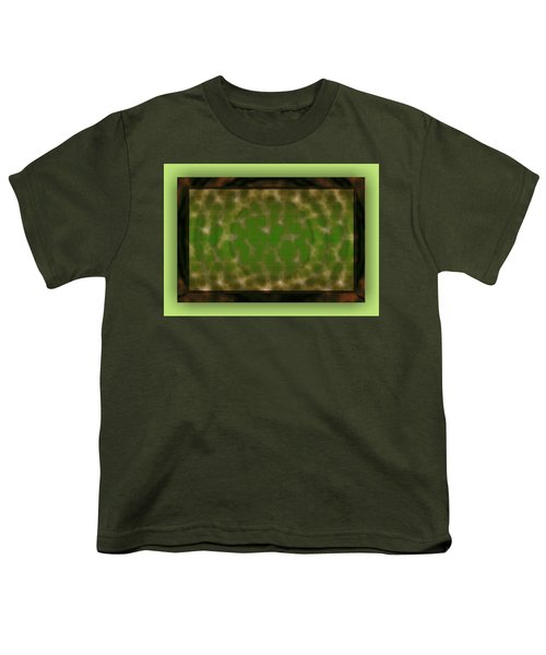 Youth T-Shirt featuring the digital art Microscopic Scale - Green by Mihaela Stancu