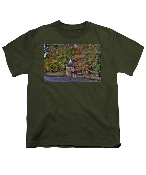 Youth T-Shirt featuring the photograph Old Stone Tower At The Edge Of The Forest by Jonny D