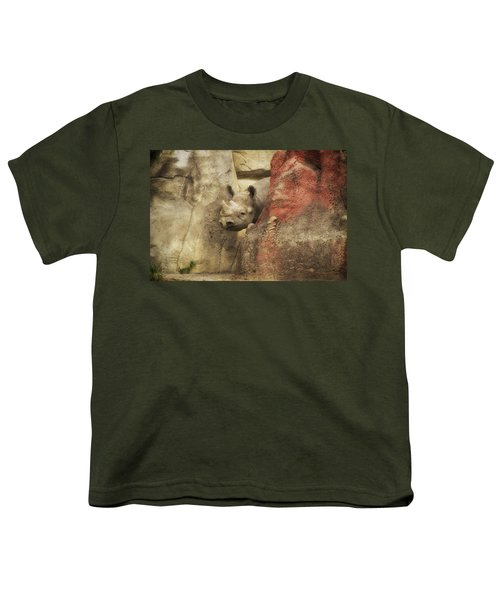 Peek A Boo Rhino Youth T-Shirt