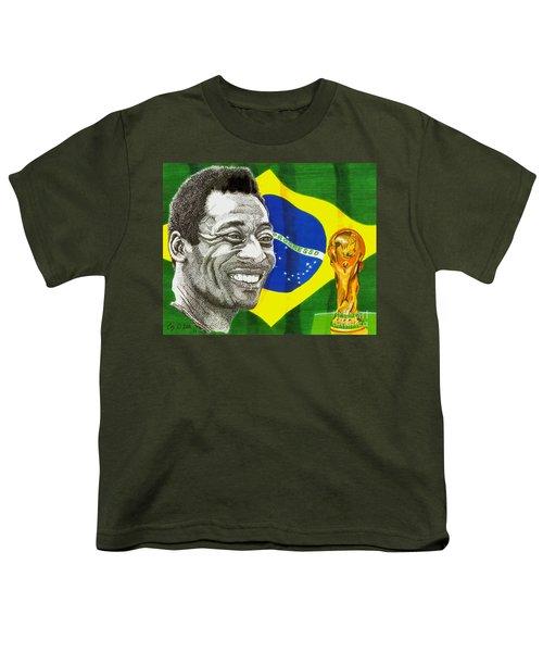 Pele Youth T-Shirt by Cory Still