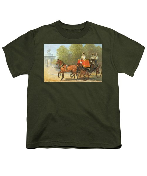 Returning From Her Majestys Drawing Room Youth T-Shirt by Alfred Corbould