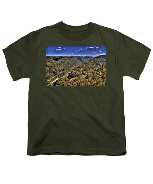 Youth T-Shirt featuring the photograph River Running Through A Valley by Jonny D